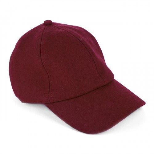 e15adcd77f243 Wool Baseball Cap - Oxblood