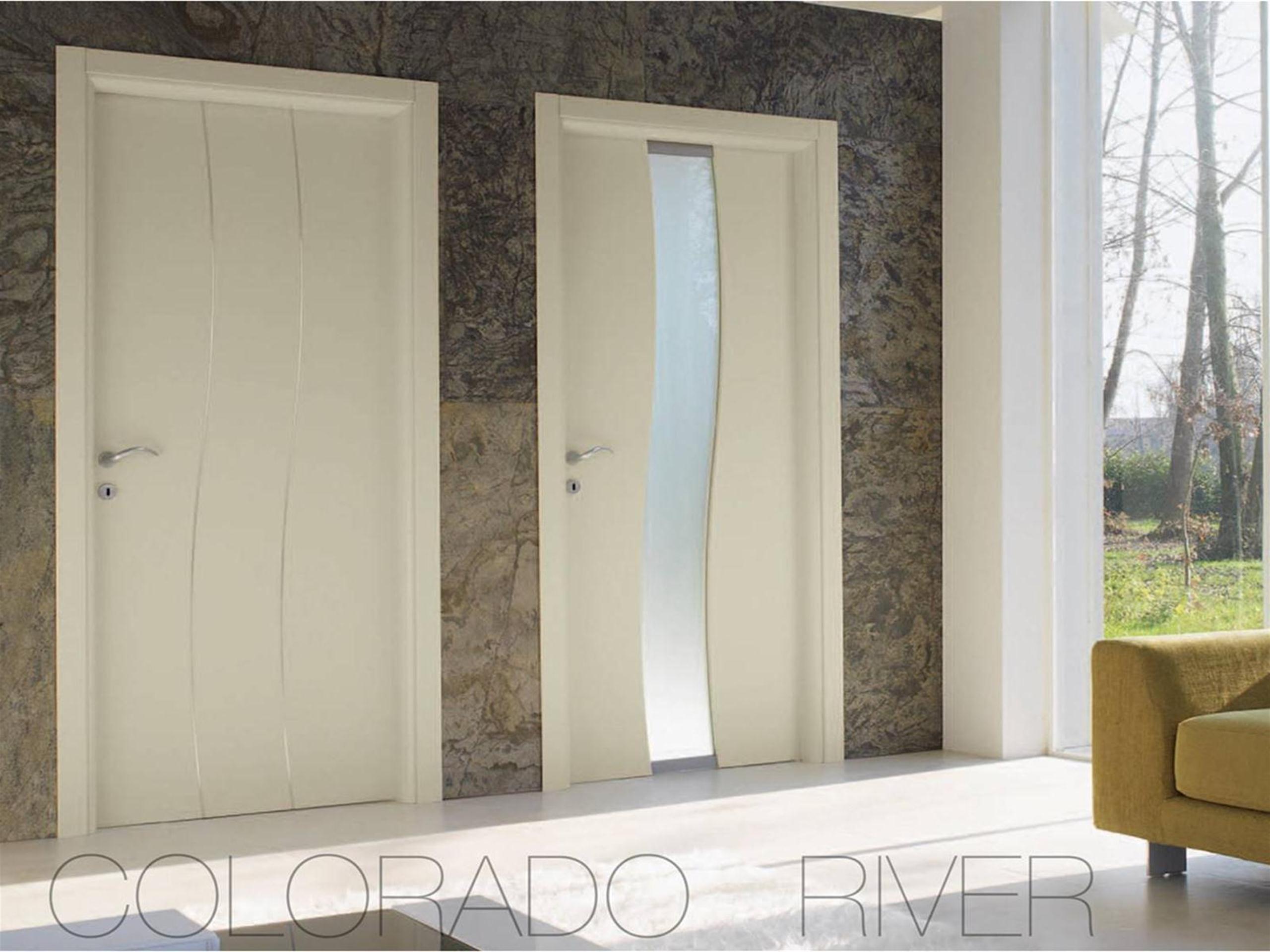 Porte bianche e in legno moderne laccate opaco o lucido nel ...