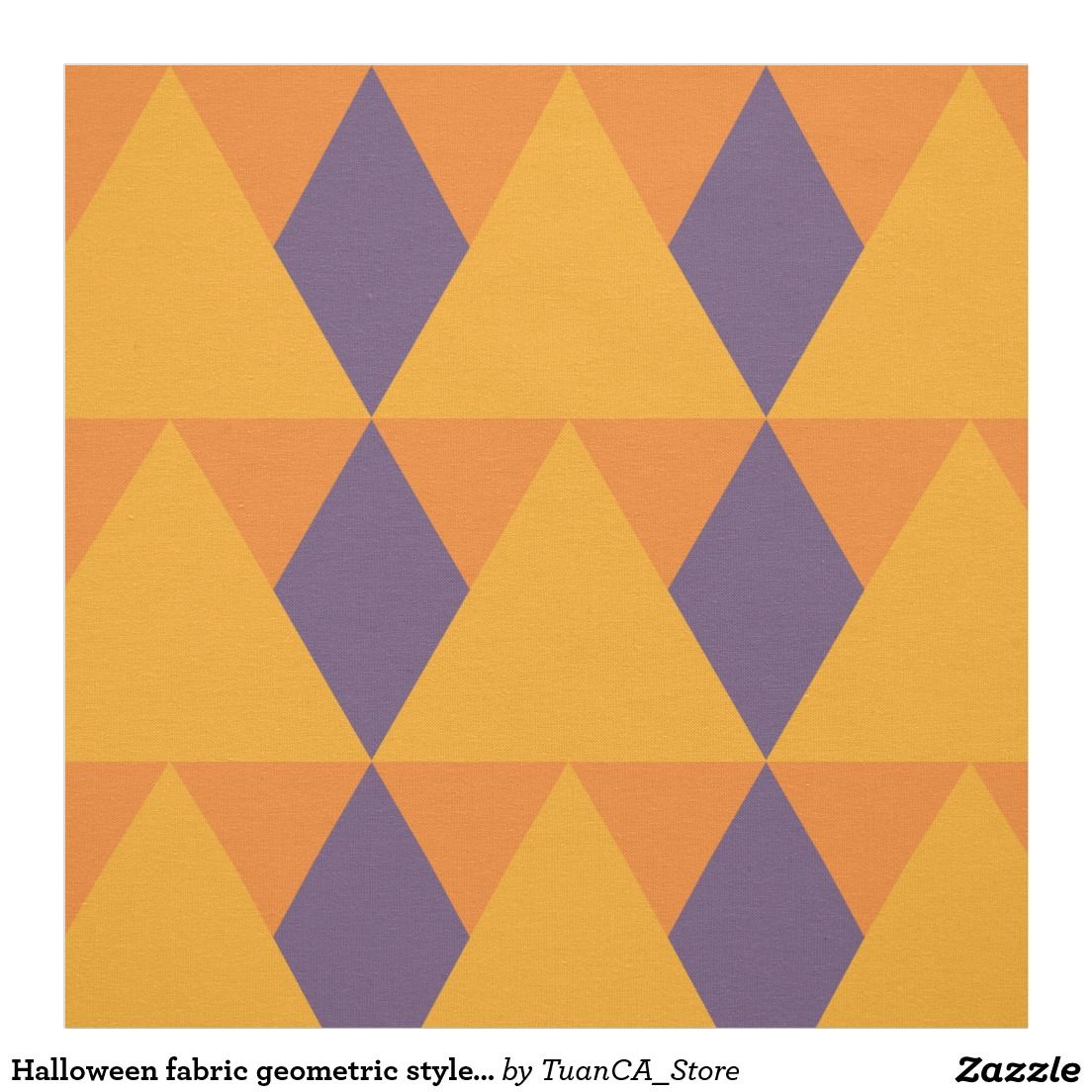 Halloween fabric geometric style 2