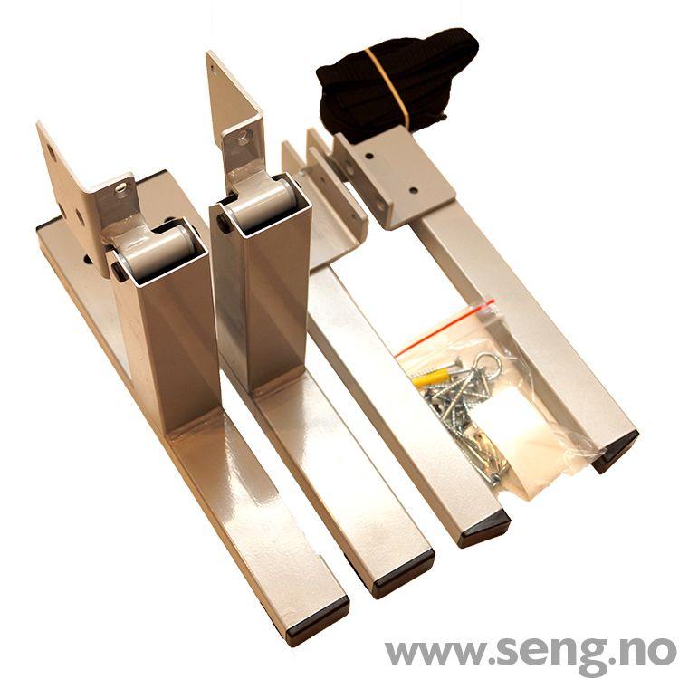 Vippebeslag for montering på rammemadrass. Ukomplisert og smart løsning når du vil slå opp din rammemadrass for å kunne utnytte plassen i rommet bedre.