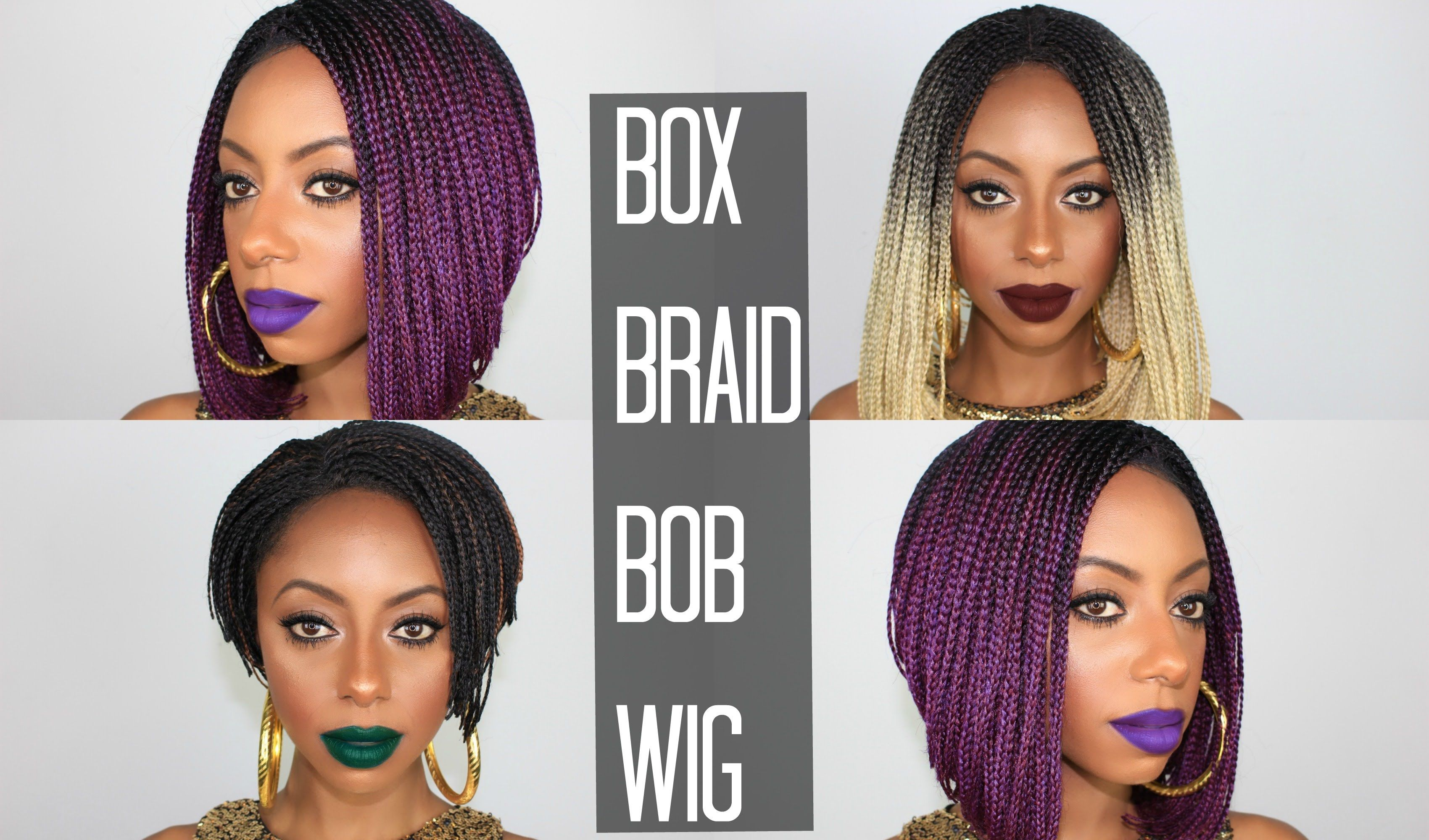 Open Me For Details Natural Looking Box Braid Wig Sis Lace Bob Hey Y All I Just Received These New Braided Wigs From Elevatestyles This