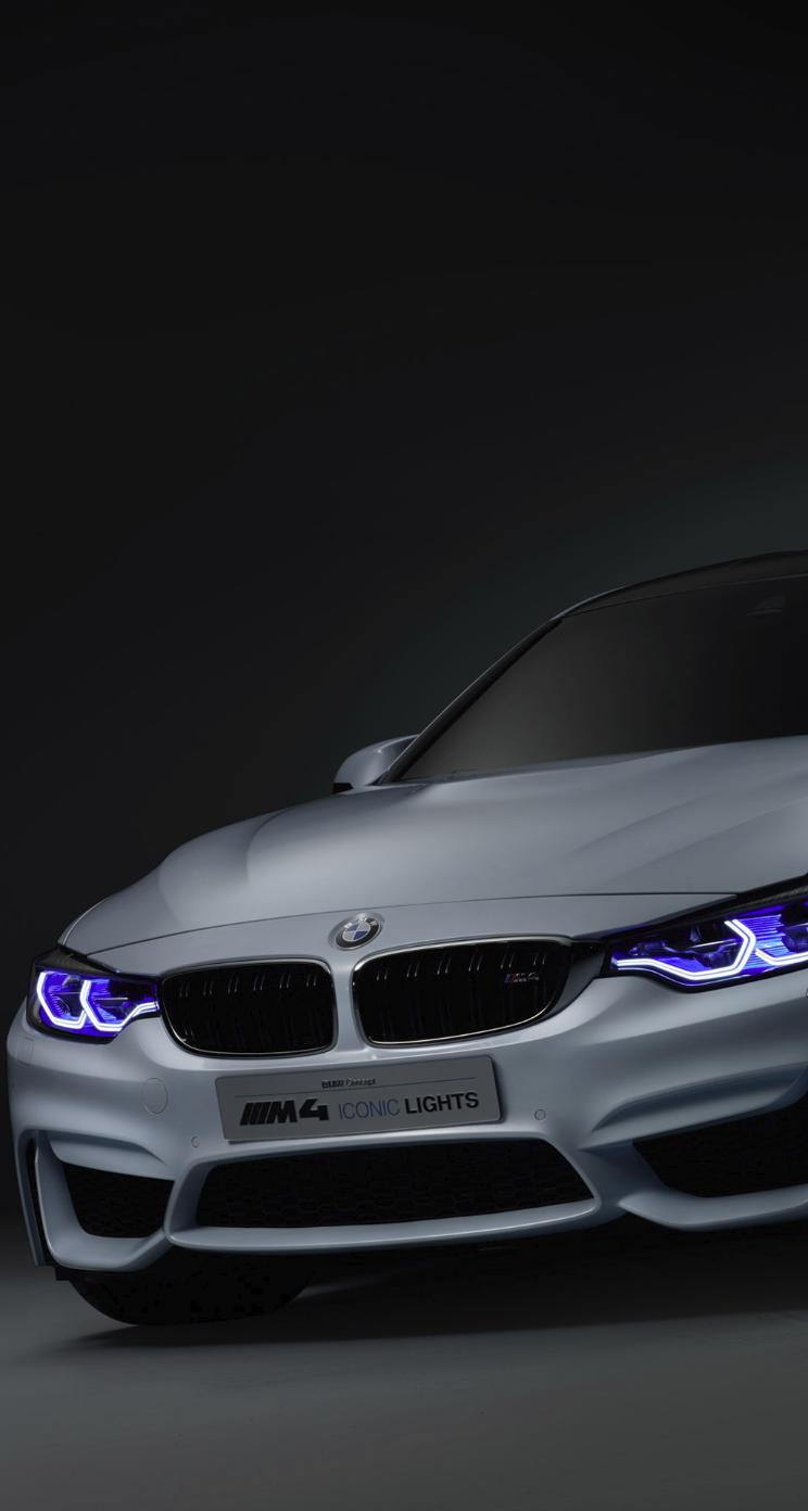 BMW m4 iPhone 5 Parallax Wallpaper (744x1392) Bmw m4