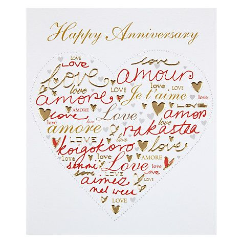 Woodmansterne Love In Different Languages Anniversary Card Anniversary Cards Anniversary Cards