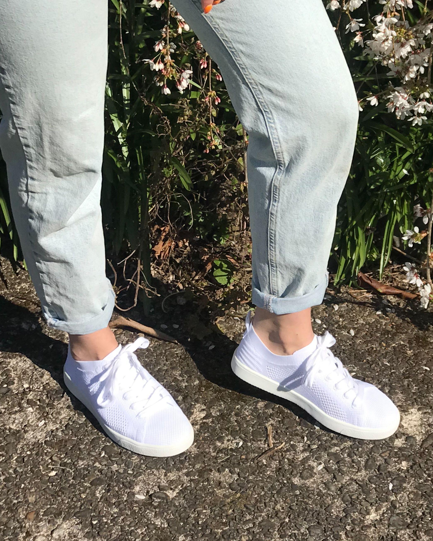 Tibor White Knit Sneaker in 2020