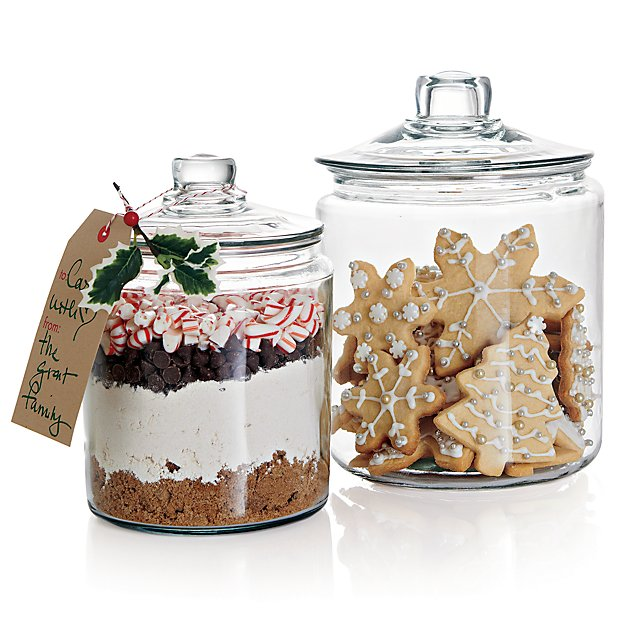 Heritage Hill 128 Oz Glass Jar With Lid Reviews Crate And Barrel In 2021 Glass Jars With Lids Glass Cookie Jars Glass Jars