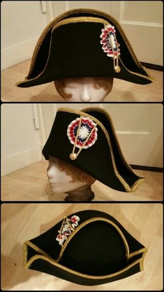 70c874fc Napoleontic bicorn hat, wool felt. Made by Angela Mombers -  www.walkingthroughhistory.com