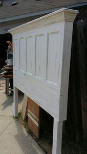 Photo of utvidet høyde king size vintage dør hodegjerde soverom ideer dører repurposing …