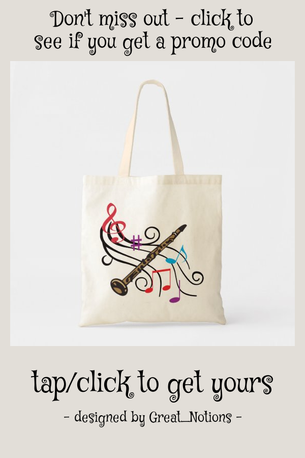 Clarinet With Music Tote Bag | Zazzle.com - #Bag #Clarinet #music #Tote #zazzle #Zazzlecom
