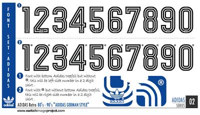 Football Teams Shirt And Kits Fan Adidas Retro Font 80 S 90 S German Style Adidas Retro Retro Font Retro