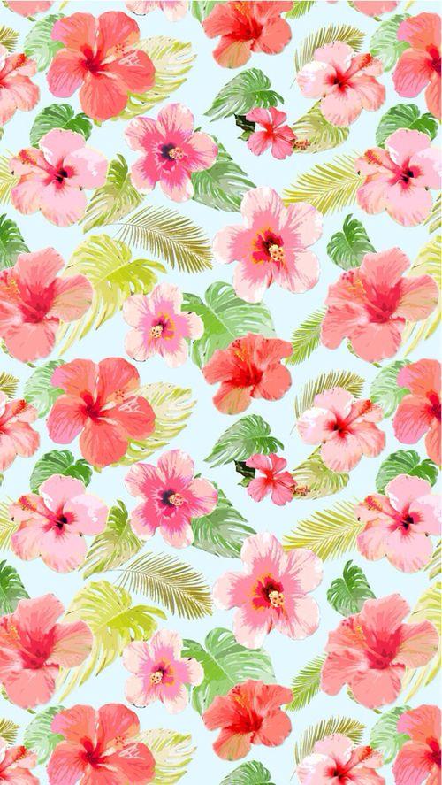 Flores Tropical PatternRilakkumaIphone WallpapersIphone