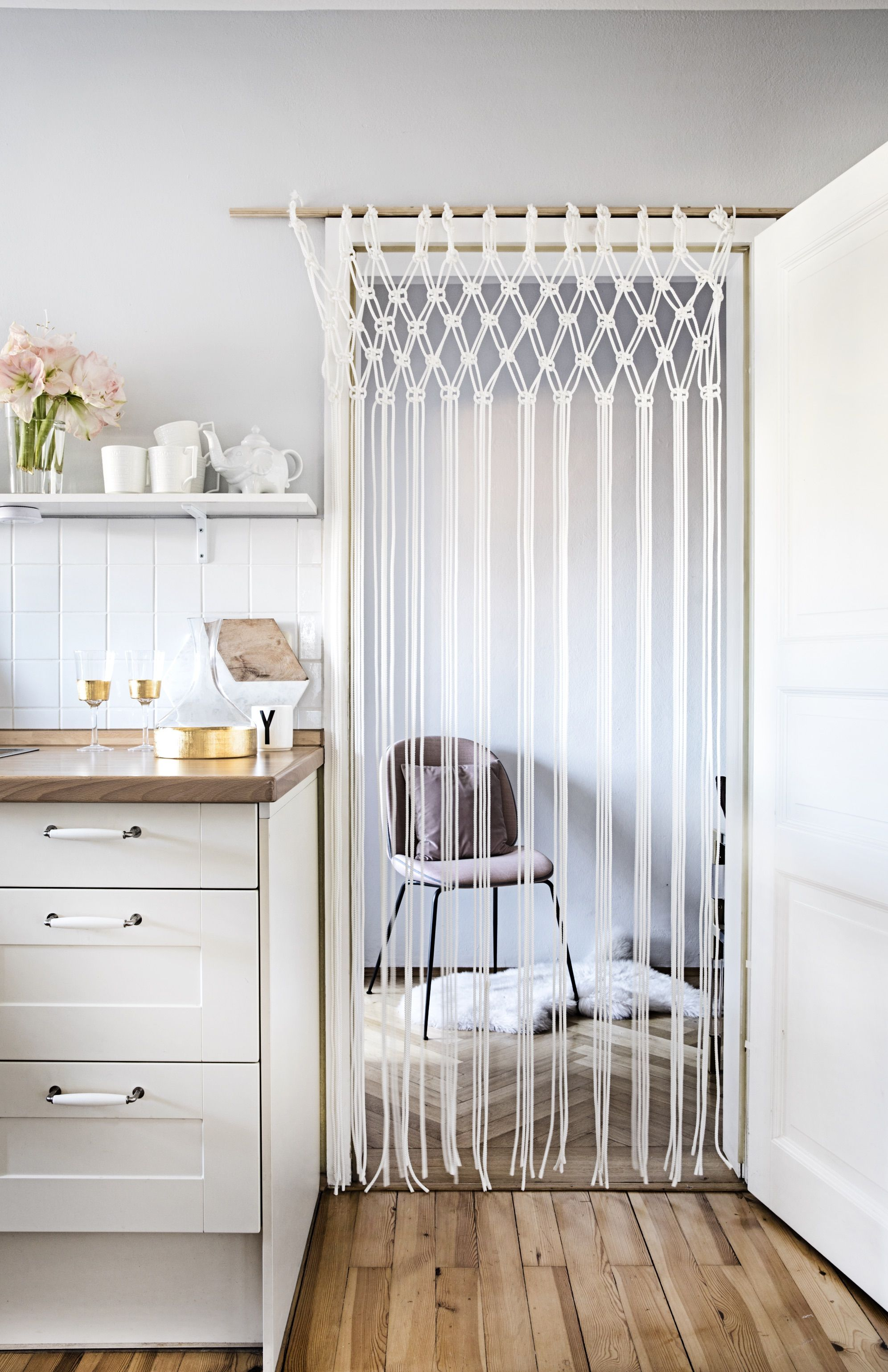 Türvorhang Ikea anleitung für diy makramee vorhang im diys craft and upcycling