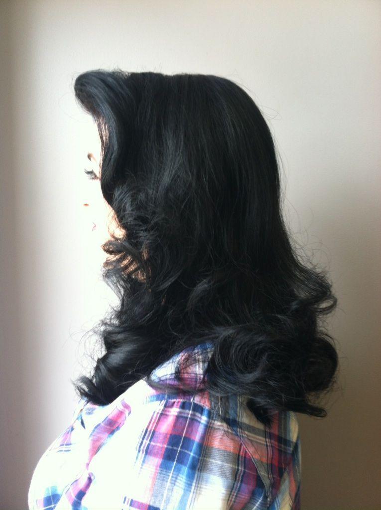Retro Hair. Long Hair. Formal Hair Styles.