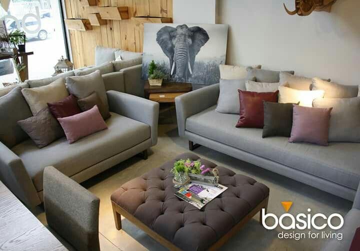 Sala otoman gris morado decoraci n casa pinterest for Decoracion hogar gris