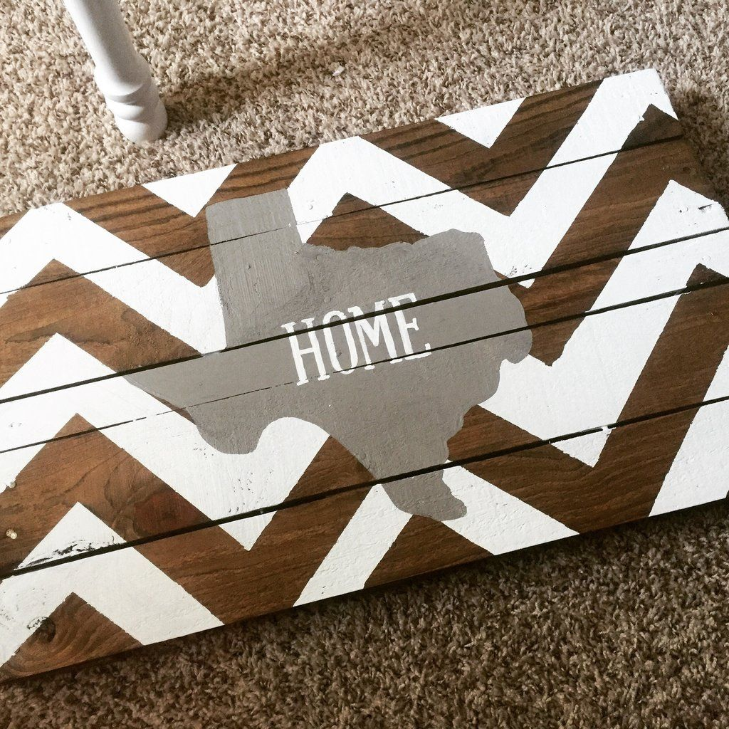 Wooden Texas Recycled Pallet Sign By Rusticrestyle On Etsy: Texas Chevron Pallet Sign