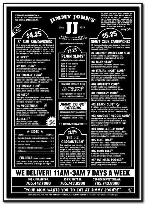 graphic regarding Jimmy Johns Printable Menu identified as Pin by means of Mokalo upon Womens Jimmy john menu, Jimmy johns