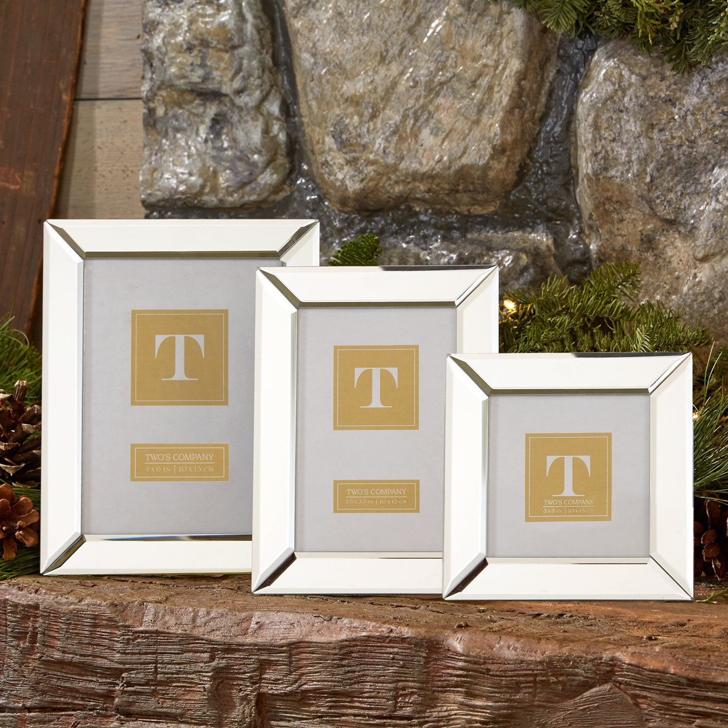 3 Piece Beveled Mirror Picture Frame Set | Products | Pinterest ...