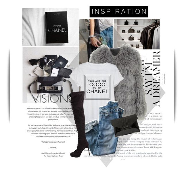 """""""Coco to my chanel"""" by emeliet ❤ liked on Polyvore featuring Nobis, Chloé, Chanel, Rebecca Stella For Nelly and Givenchy"""