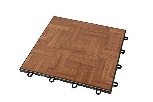 IncStores Modular Grid Loc Dance And Garage Flooring X - Teak patio flooring 12x12