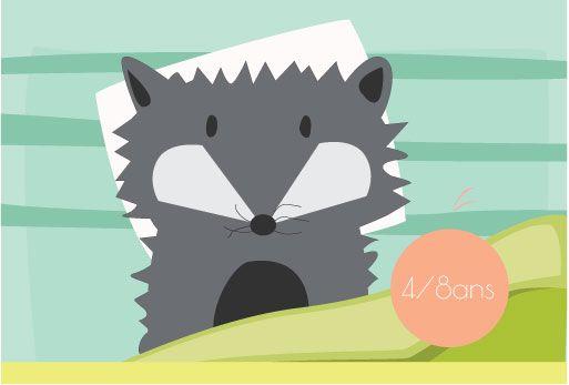 Jeu printable: Loup, dors-tu?Dès que le loup est endormi, les enfants sont dans un état propice à l'endormissement.