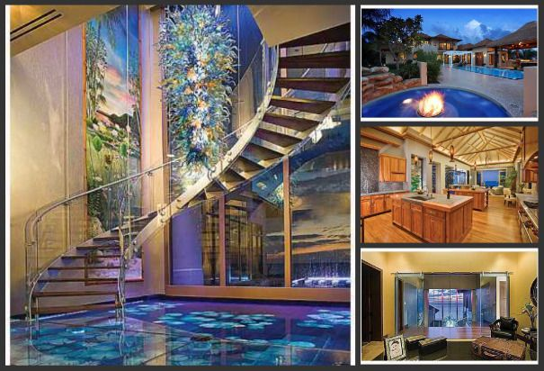 glass floor in a home. love it!