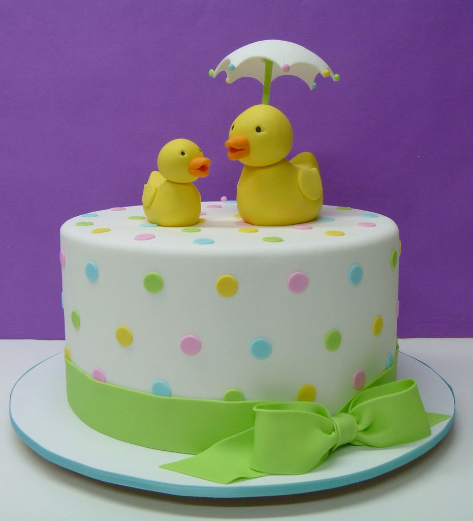 Ducky Shower in 2020 Baby shower cakes, Duck cake, Baby