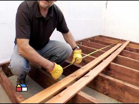 Como Construir Un Deck O Entramado De Piso Youtube Instalacion De Pisos De Madera Deck Madera Terrazas De Madera