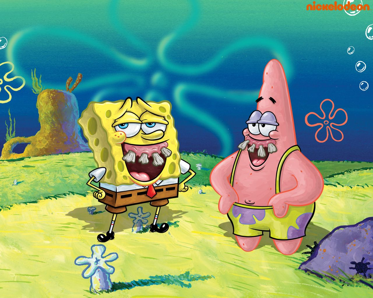 Spongebob patrick spongebob squarepants wallpaper