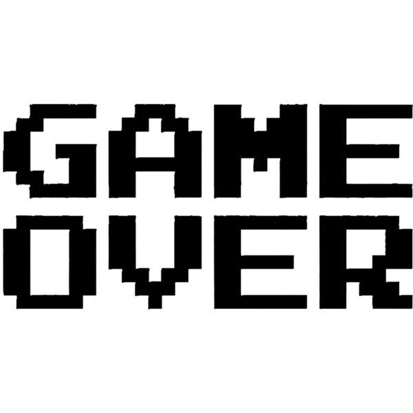 Amazon.com: GAME OVER Funny Video Game 8bit Pixel 12