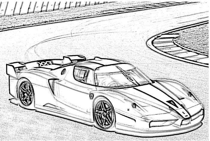 Ferrari FXX Coloring Page Ferrari Pinterest Moyen de