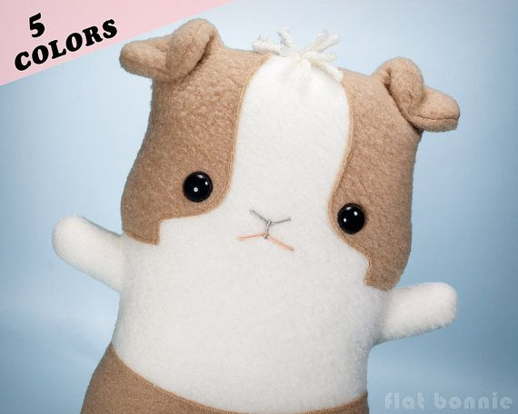 Plush Guinea Pig stuffed animal, Kawaii Guinea Pig fleece doll ...