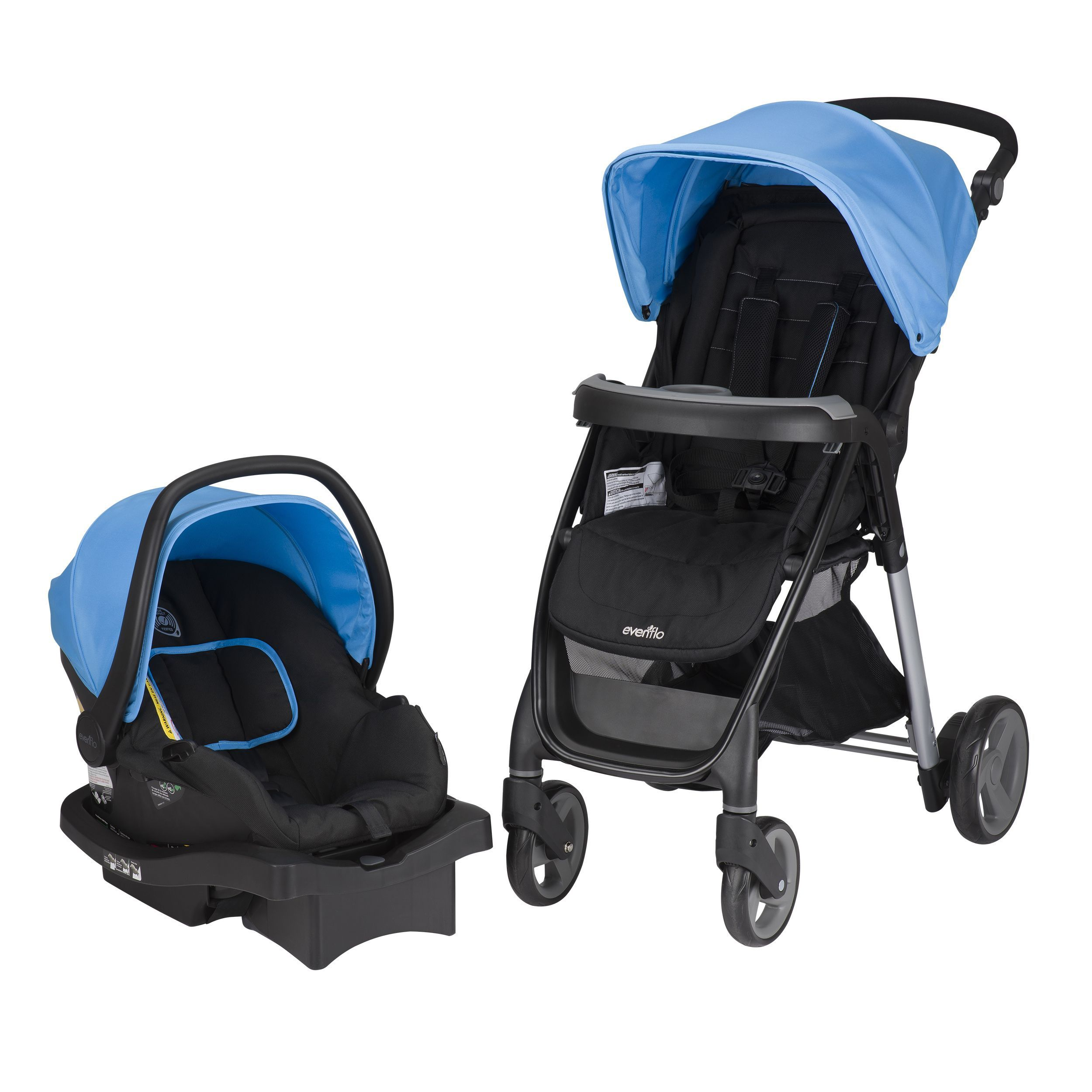 Evenflo Princeton Travel System with Serenade in Sky Blue (Sky Blue ...