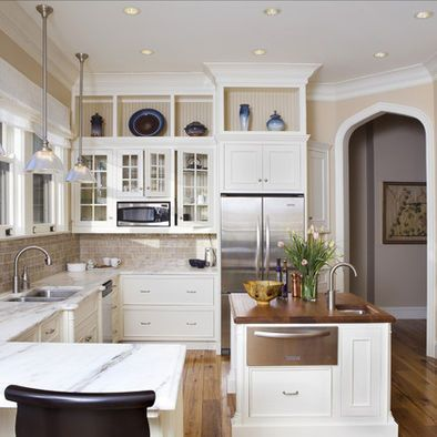 Cubbies where soffits are? | Kitchen soffit, Above kitchen ...