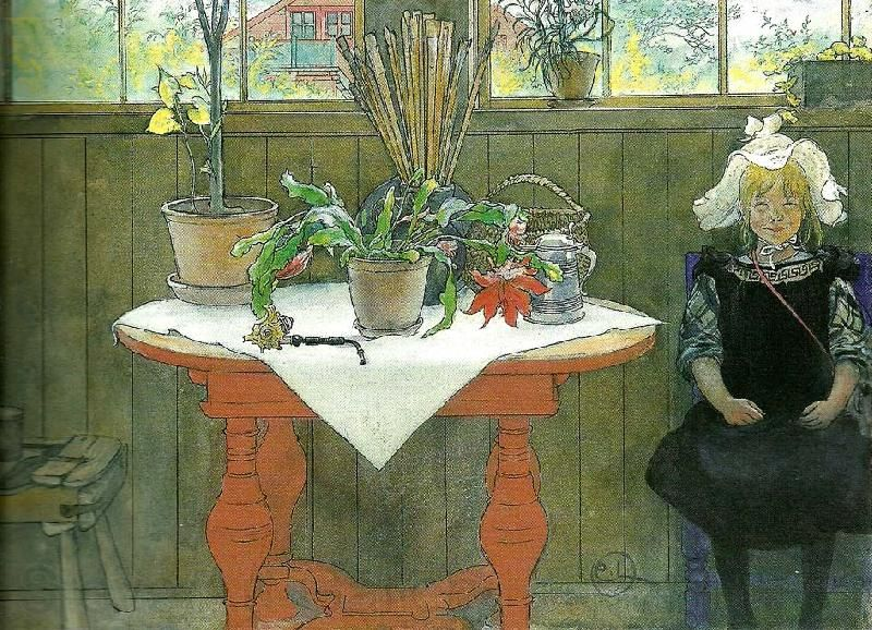 Carl Larsson: Swedish Realist Painter, 1853-1919 ~ kaktus-lisbeth i ateljen