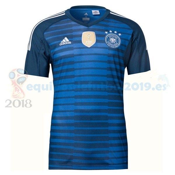 Futbol Originales Casa Camiseta Portero Alemania 2018 Azul