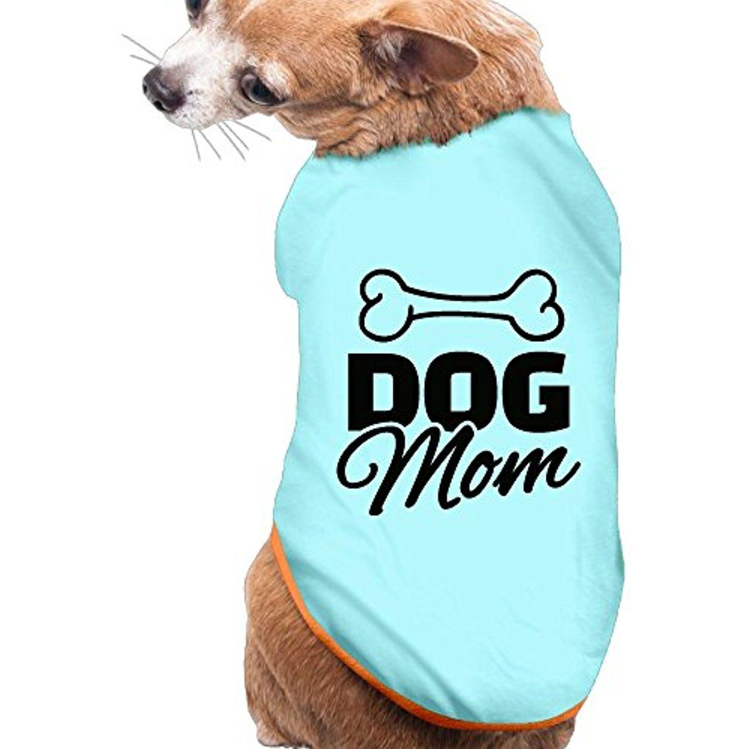 61d4f433deb2 Hot Sale ! FASHION N WORLD Dog Mom Printed Funny Letters Apparel Vest  Ployster Puppy Clothes Christmas Gifts For Dogs Small SkyBlue * Be sure to  check out ...