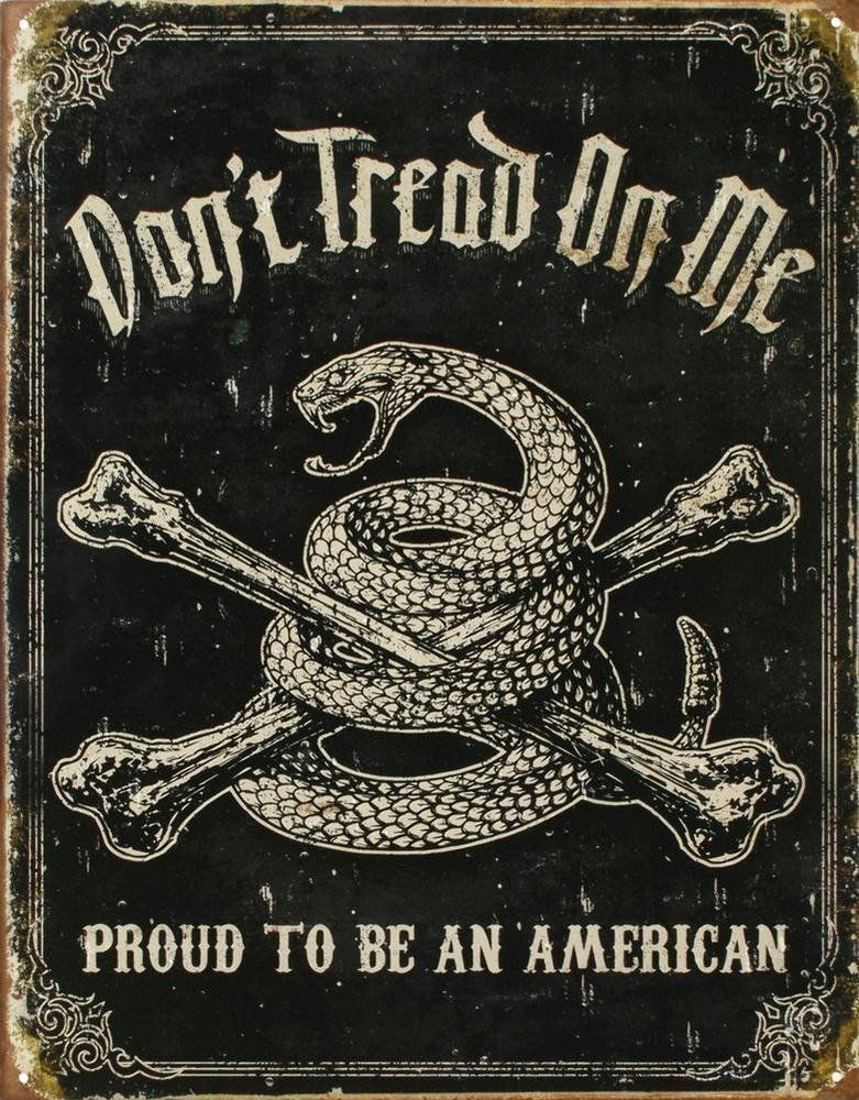 Don T Tread On Me Proud To Be An American Metal Tin Sign Dtom Gift Usa New Ebay Dont Tread On Me Patriotic Wall Art American Tin