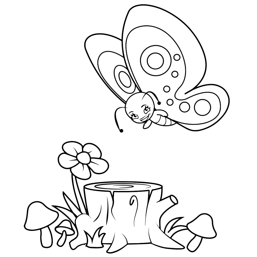 Butterfly Coloring Pages for Kids - Android, iPhone & iPad app ...