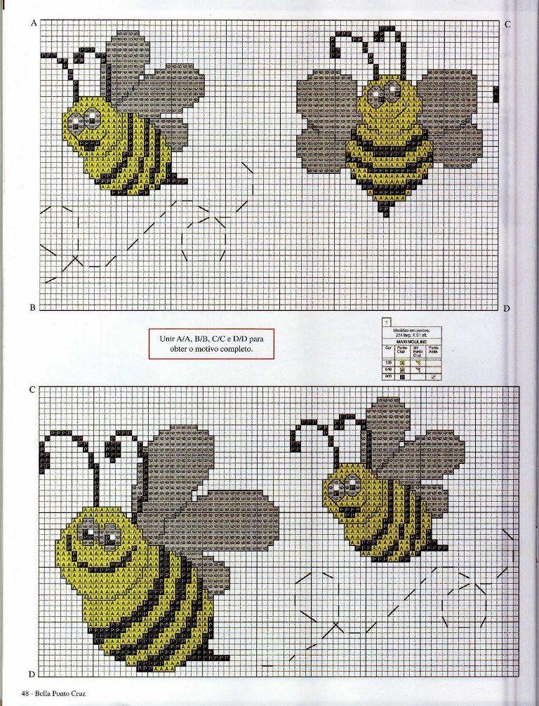 08a - Bella Ponto Cruz | abejas | Pinterest | Abeja, Avispa y Bebé