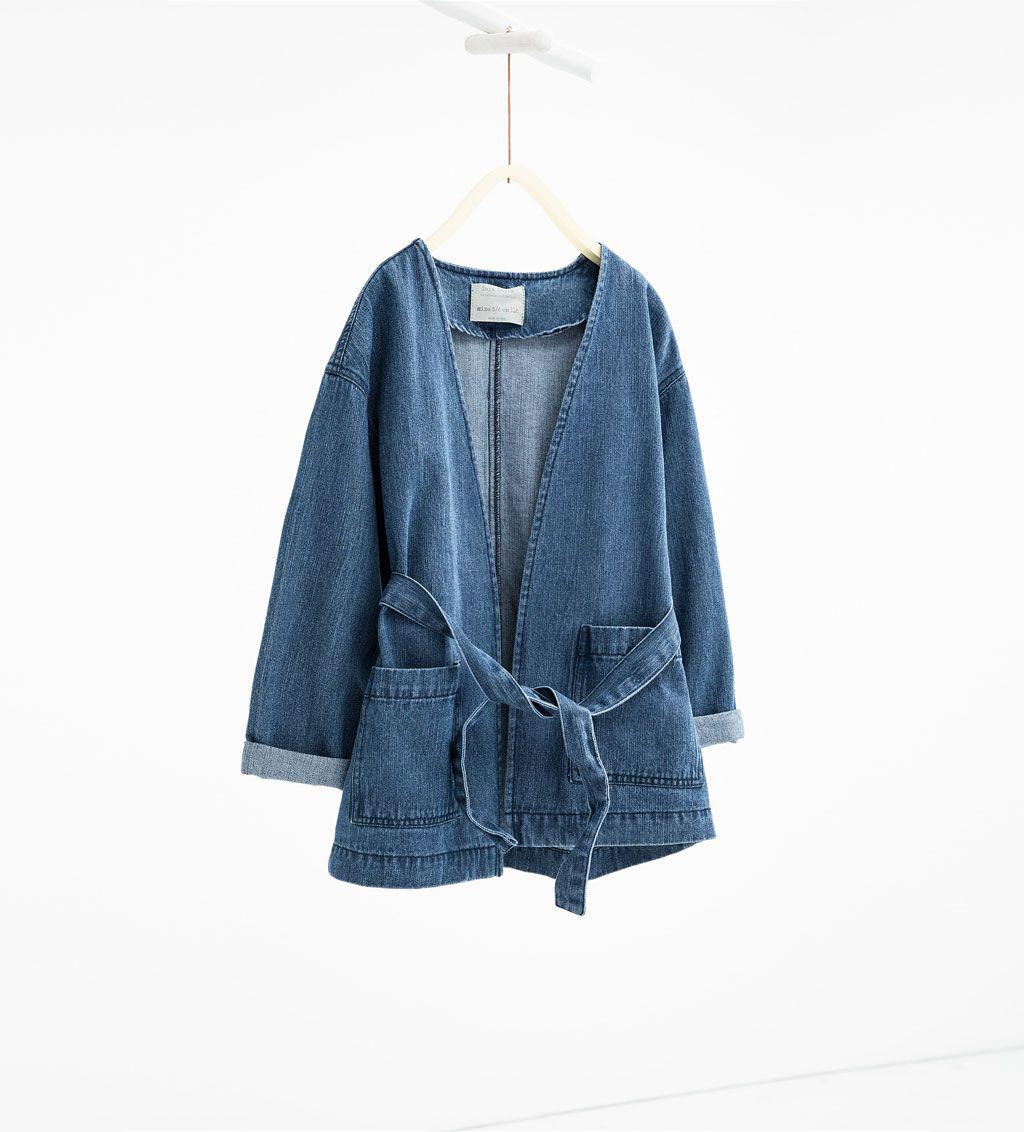 livraison gratuite 02760 d3ab5 ZARA - ENFANTS - Manteau en jean | sapes | Blouson fille ...