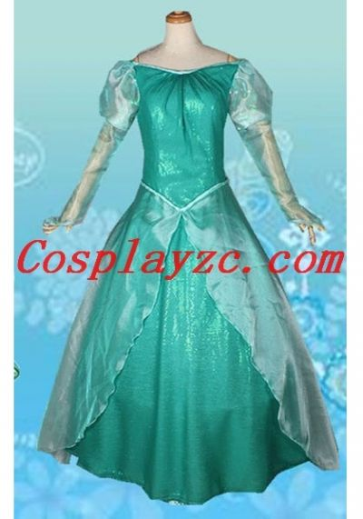 The Little Mermaid Princess Ariel Deluxe Green Dress Cosplay Costume Adult|dp-80007-3|The Little Mermaid Costumes & The Little Mermaid Princess Ariel Deluxe Green Dress Cosplay Costume ...