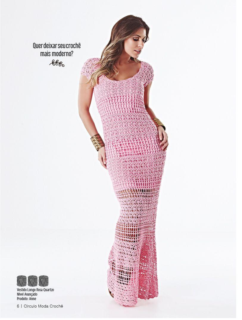 Revista Círculo Moda Crochê | Círculos, Vestiditos y Moda crochet