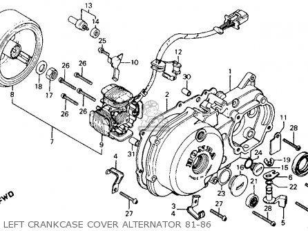 honda ct110 trail 110 1986 usa left crankcase cover Guitar Wiring Diagrams