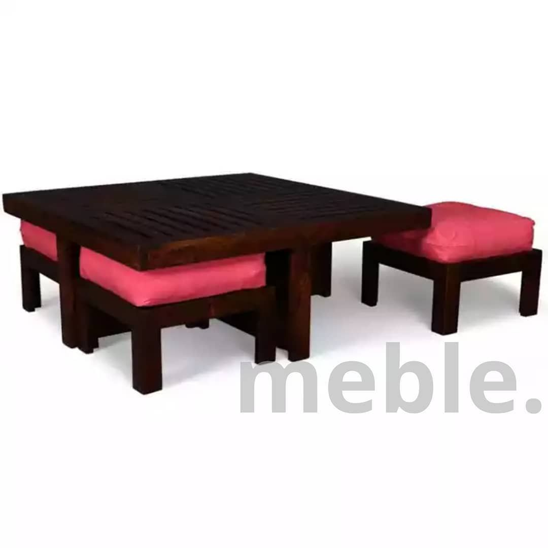 Coffee table  with  comfy stools. Get the right value for your money without compromising on quality. [#meble] [#coffeetablestool] [#dinningtabledecor] [#Homedecor] [#livingroom] [#interiordesign] [#Smartidea] [#trendy] [#luxury] [#Lahore]