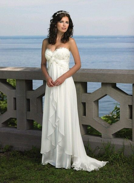 Y Soft Chiffon Beach Wedding Dress