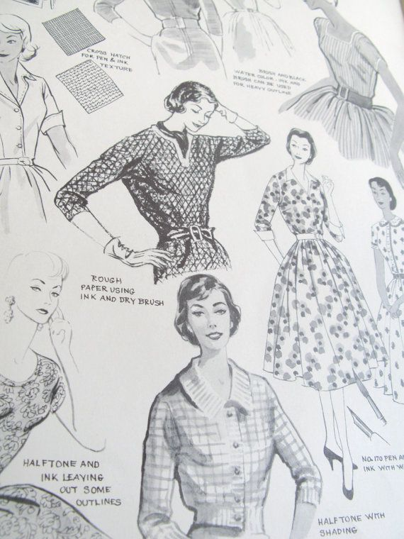 How to draw vintage fashions