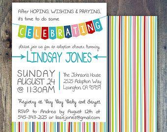Adoption Party Invitation Paper Party Pinterest Adoption