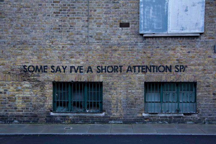Mobstr: they say i've a short attention sp. #streetart
