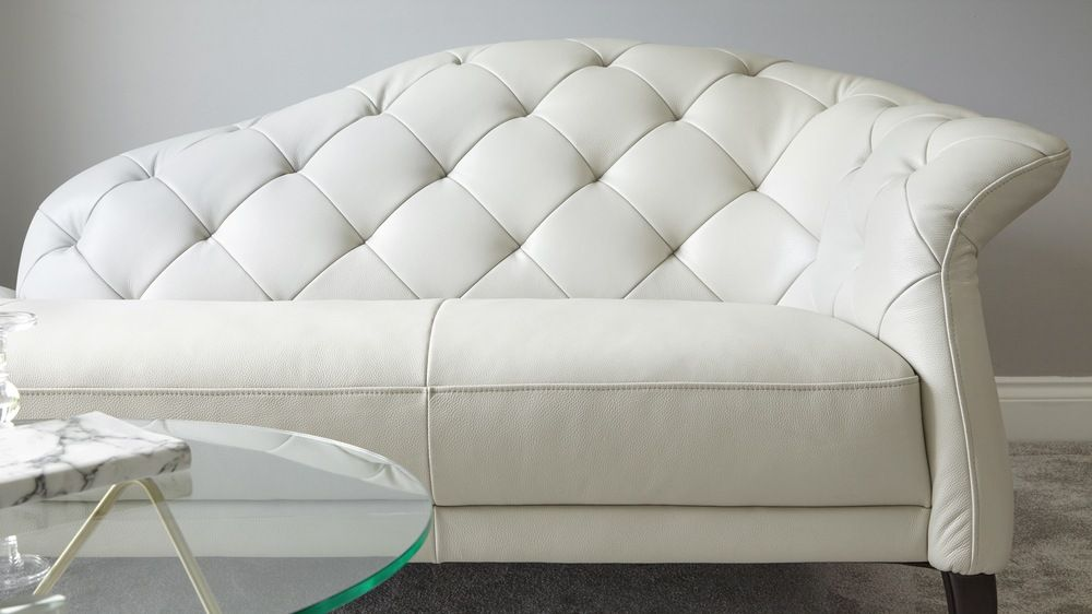 Magnificent White Modern Leather Chaise Lounge Uk Danetti Luxe Dailytribune Chair Design For Home Dailytribuneorg