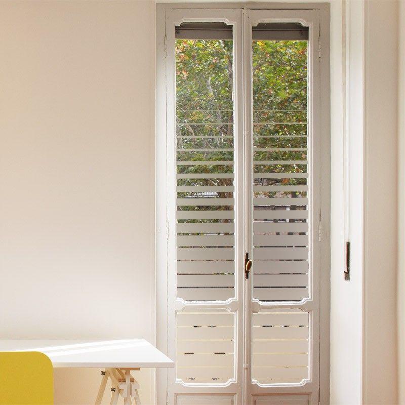 Sticker occultant pour vitres et fenêtres composé de bandes - store occultant porte fenetre