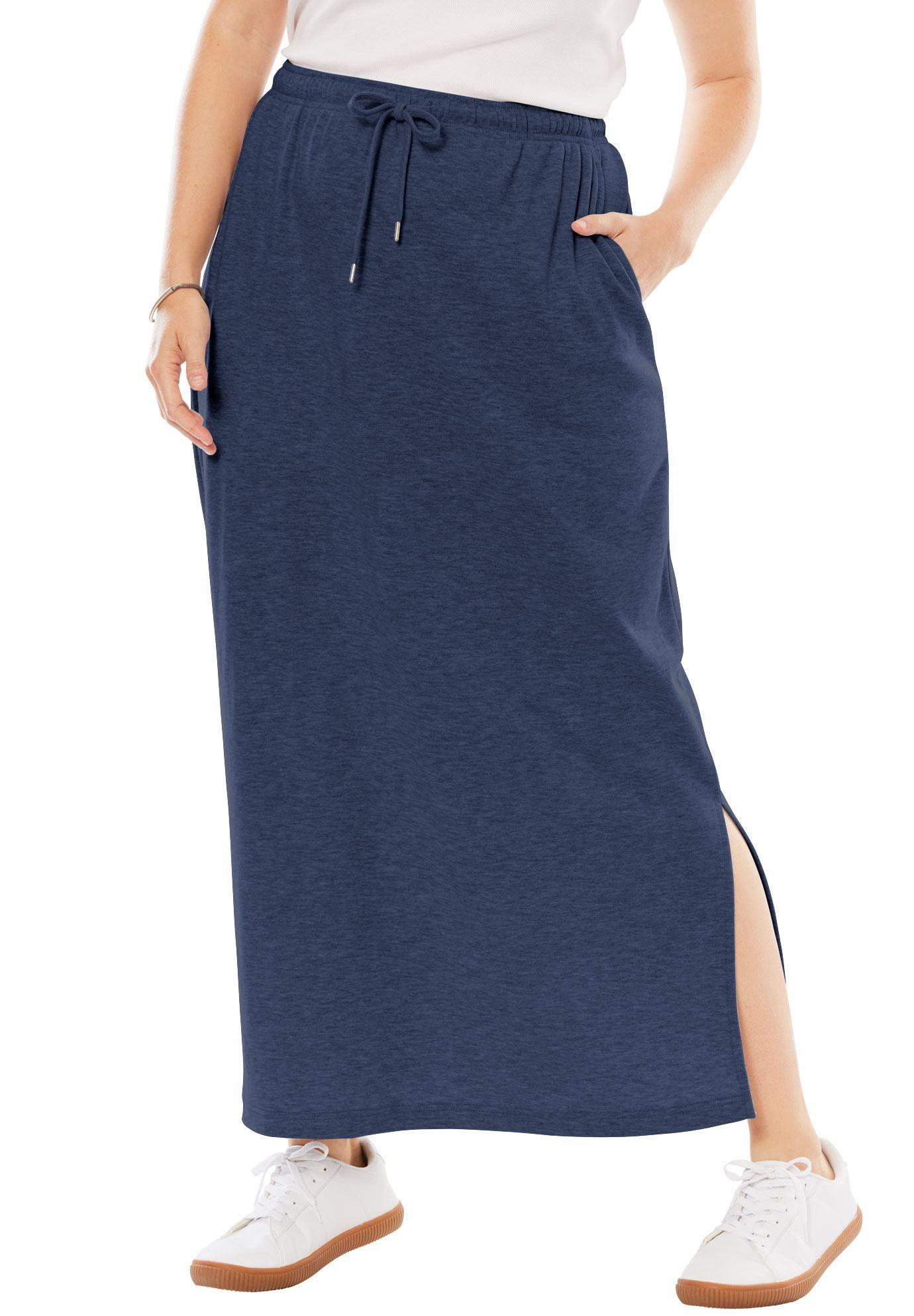 4c0426f99f Petite A-line Sport Knit Skirt - Women's Plus Size Clothing ...
